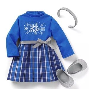 American Girl Truly Me Star & Snow Dress Outfit